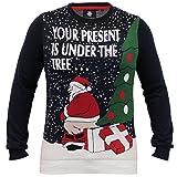 Threadbare Herren Weihnachten Weihnachts Pullover Rentier Neuheit Santa Gestrickt Norweger