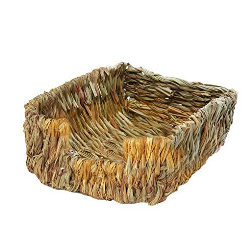 Junecat Tier Gras Bett Chew Toy natürlichen Stroh gesponnene Gras Heu Mat Paws Schutzkleintiere Bed -