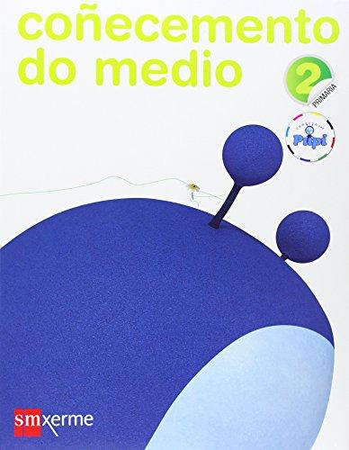 Portada del libro Coñecemento do medio. 2 Primaria. Conecta con Pupi - 9788498542776