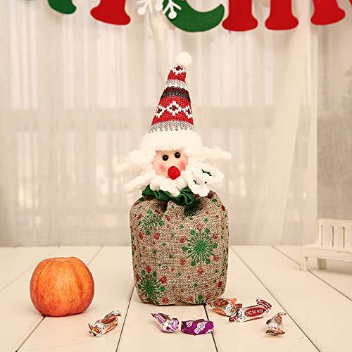 (Gwdzd Geschenktüte Weihnachten 4 Stücke Dekoration Liefert Party Geschenk Exquisite Geschenktüte Eve Apple Bag Apple Box Süßigkeitstasche)