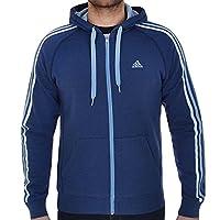 adidas Chelsea Essential 3 Stripe Full Zip Hoodie - Small 36