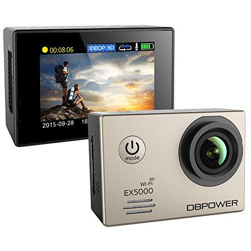 DBPOWER Cámaras de Acción EX5000 WIFI de 2.0 pulgadas 14MP...
