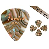 Fender 098-2351-557 351 shape premium médiators heavy, abalone, 144 count