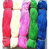 Lovely Arts Collection Nylon Knot Macrame Beading Braided Thread Cord Rope, 1mm (Rainbow Colours, LAC131) - Pack of 5