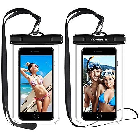 Wasserdicht Schutzhülle, ToHayie Wasserdicht Tasche für Apple iPhone 7/6S, 7/6S Plus, 5S,Umweltfreundlich TPU Konstruktion und IPX8 Zertifiziert bis zu 100 Fuß, 2 Packung