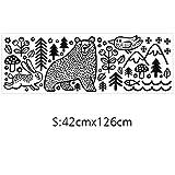 Dtuta Autocollants Mural Tuile en CéRamique Contexte Autocollants DéCoration Murale Stickers Mural Animalier Ours Lapin Autocollant Mural ImperméAble en PVC S: 42X126Cm; L: 57X171Cm....