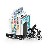balvi Bücherstütze Postman Farbe schwarz Dekorativ Metall