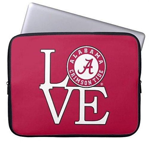 geordiet Alabama Crimson Tide Love Wasserdicht Neopren Laptop Computer Ärmel 38,1cm Alabama Crimson Tide Laptop