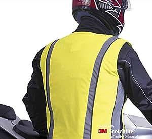 Salzmann gilet de haute visibilité réfléchissante unisexe pour la moto, vélo et course, Haute Viz 3M Scotchlite vélo gilet