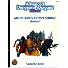 Annual Monstrous Compendium: 001 (Advanced Dungeons and Dragons 2nd Edition): Written by Jeff Easley, 1996 Edition, (2nd) Publisher: Wizards of the Coast [Paperback]