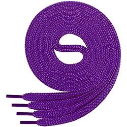 1 par de cordones Di Ficchianoplanos, de poliéster, 60-200cm de longitud, Morado
