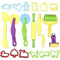 ultnice 20Stück Smart Werkzeugset von Teig mit der Modelle für Kinder (zufällige Farbe)