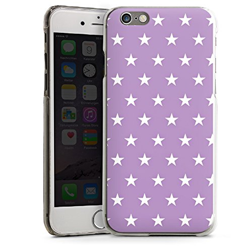 Apple iPhone 5s Housse Étui Protection Coque Étoiles Polka Lilas CasDur transparent