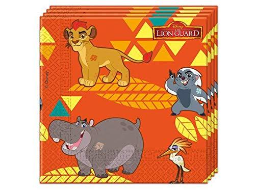 20 Servietten * KÖNIG DER LÖWEN * von Disney für Kindergeburtstag oder Motto-Party // Party Partyservietten Napkins Motto The Lion Guard Simba Kian Nala Timon Pumba Mufasa Zazu Hakuna Matata