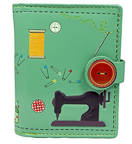Shagwear Junge-Damen Geldbörse, Small Purse Designs: (Nähzeug Helltürkis/Sewing Needs)