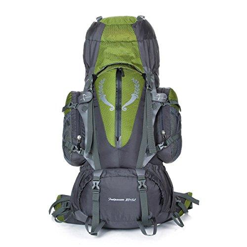 Outdoor Bergsteigen Rucksack Nylon Wasserdicht Klettern Tasche 85L Dark