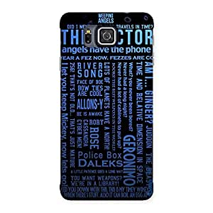 Impressive Blue Doc Angel Back Case Cover for Galaxy Alpha
