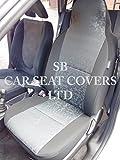 to fit a Saab 93coprisedili auto, grigio, retro in tessuto, 2fronti