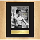 Bruce Lee Signed Mounted Photo Display