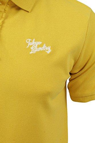 Herren Polo T-Shirt von Tokyo Laundry `Penn State`kurzärmlig Yellow Iris