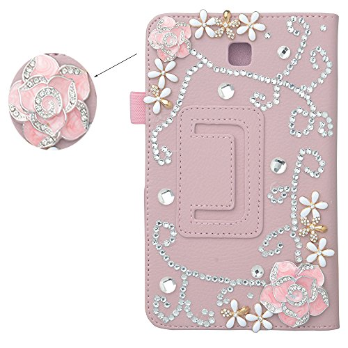Spritech (TM) 3d lusso Bling strass design ultrasottile supporto Cover per Samsung Galaxy Tab 47.0T230, Rose, Samsung Galaxy Tab 47.0T230