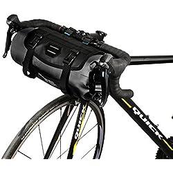 Roswheel 7L Borsa Manubrio 100% Impermeabile Φ15 x H40cm Ciclismo Cestino Anteriore per Bicicletta City Bike Borsa da Manubrio Poliestere con Un interfaccia Luce Anteriore della Bicicletta