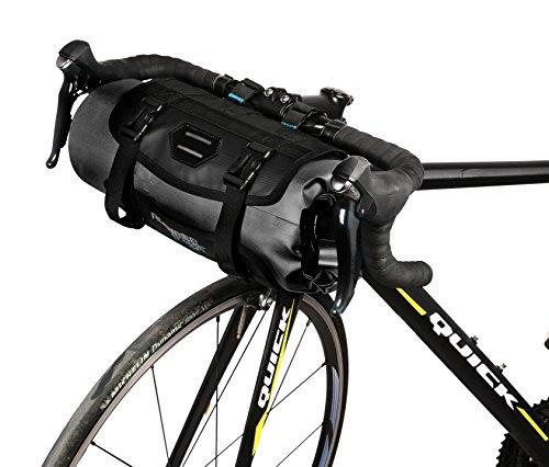 Roswheel 7L Handlebar Bag 100% a prueba de agua H15 x H40cm Cesto delantero de ciclismo para bicicleta City Bike bolsa de manillar de poliéster con una interfaz de luz de bicicleta delantera