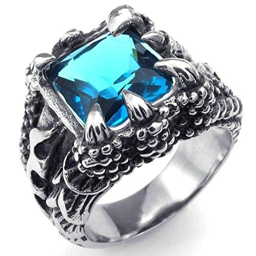amdxd-bijoux-acier-inoxydable-bague-de-mariage-pour-hommes-bleu-argent-griffe-de-dragon-forme-20mmta