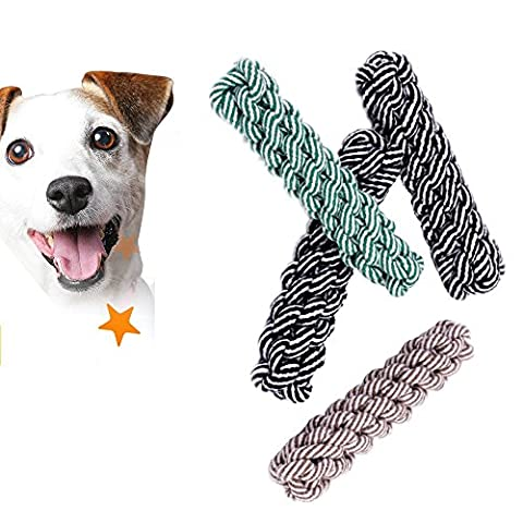 Pet Dog Cat Cotton rope molar toy Corn Candy type Safe Healthy Teeth 3Piece 20cm Can help dog brush your