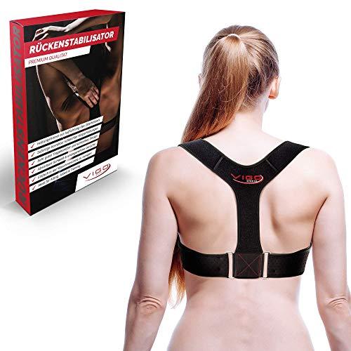 Vigo Sports® Posture Corrector - Profi Rückenstütze für eine gerade Haltung - Rückenstabilisator für Damen & Herren mit höchstem