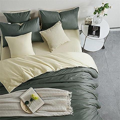 GAW Hogar Moda 100% algodón de 3 piezas de ropa de cama, edredón cubrir conjunto completo/Reina,Funda nórdica(150cm x 200cm*1),Hoja(200cm x 250cm*1),Funda de almohada(48*74cm*1)