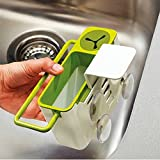 #10: ShopyBucket 3 IN 1 Kitchen Sink Organizer for Dishwasher Liquid, Brush, Cloth, Soap, Sponge with Self Draining Sink Tidy