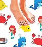 Monkey Home Anti Rutsch Sticker Badewanne von 8Stück Großen Sea Creature Aufkleber reifenprofile. Best Selbstklebend Sicherheit Anti-Rutsch Applikationen für Badewanne und Dusche Oberflächen