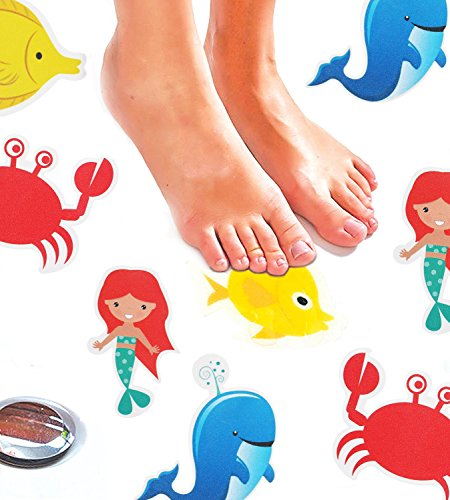 Monkey Home Anti-slip Bath Stickers by 8 Pack Large Stickers for Sea Creatures. Best Anti-Slip Safety Bath and Shower Stickers.