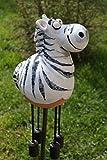 Gartenkugel Keramik Zebra Tierfigur Garten Terrasse Kugel Handarbeit Deko