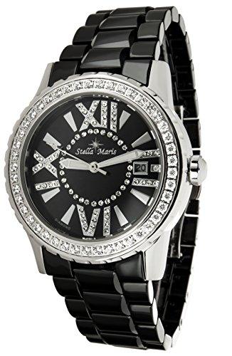 Stella Maris - ST5631a - Montre Femme - Cadran Noir - Bracelet Céramique Noir