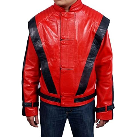 Mens faux leather jacket=MICHAEL JACKSON THRILLER RED= Available sizes, XS-5xl, Available Colors red, brown, white, green, black,