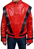 Mens faux leather jacket=MICHAEL JACKSON THRILLER RED= Available sizes, XS-5xl, Available Colors red, brown, white, green, black, blue. (XXL)