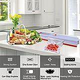 Vakuumiergeräte, LASUAVY Klein Folienschweißgerät für Lebensmittel / Fleisch/ Früchte Bleiben bis zu 8x länger Frisch - Vakuumierer Natürliche Aufbewahrung Vakuum Maschine Inkl. 30 Profi-Folienbeutel - 6