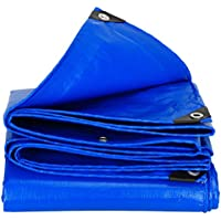 QI FANG BUSINESS Vele parasole Sonnenschutzplane Outdoor Plane Sonnencreme Poncho wasserdicht Bold Shade Regenplane LKW Ölbezug Canvas Isolierung (Color : Blue, Size : 4 * 8 m/157 * 315 inch)