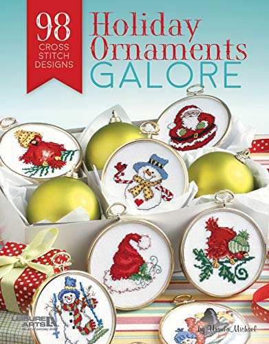 Leisure Arts: Holiday Ornaments Galore: 98 Cross Stitch Designs for Christmas (English Edition)