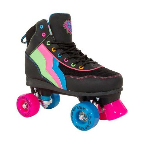 Rio Roller Classic II Passion Quads Rollschuhe Disco Roller schwarz-pink passion, 39.5