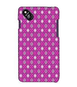 Fuson Designer Back Case Cover for Micromax Bolt D303 (Pink designer pattern)