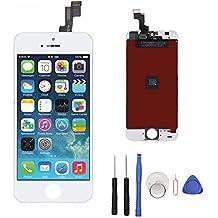 Para iphone 5S Reemplazo de pantalla LCD Display + Touch pantalla conjunto completo con herramientas gratuitas