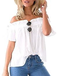 Legendaryman Verano Blusa Mujer Casual Sweatshirt Suelto Colores Lisos Plisada Camisas Tops Moda Blouses Pullover Cuello