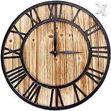 clásico Grande de metal números romanos silencioso reloj de pared de cuarzo 16 pulgadas - Elegante