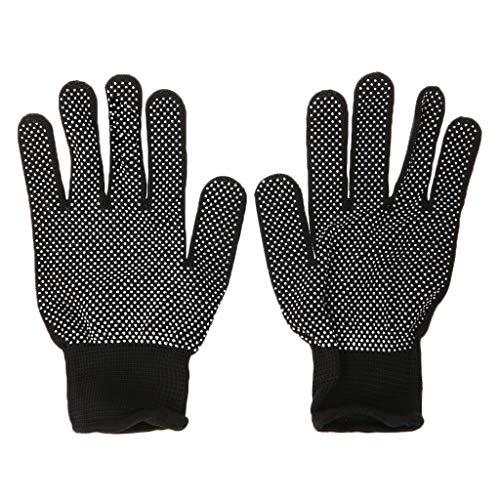 Lergo Hitzebeständiger Schutzhandschuh für Locken, glattes Eisen, 2 Stück Einheitsgröße Schwarz