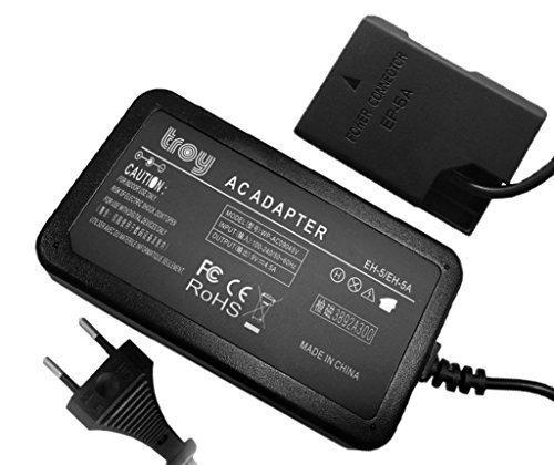 troy EH5-EP5A Netzteil Adapter für Nikon D3100, D3200, D3300, D5100, D5200, D5500 Coolpix P7000 P7100 P7700 P7800 als Ersatz EH-5 EP-5A EP5a schwarz