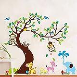 Malilove Momkey Eule Elefant Vogel Zebra Wand Aufkleber Für Kinder Zimmer Einrichtung Abnehmbare Schälen Und Stick Home Aufkleber Diy Wand Arrt