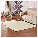 Yontree Anti-skid Living Room Soft Carpets Floor Mat Shaggy Area Rug (Beige 100*160) …